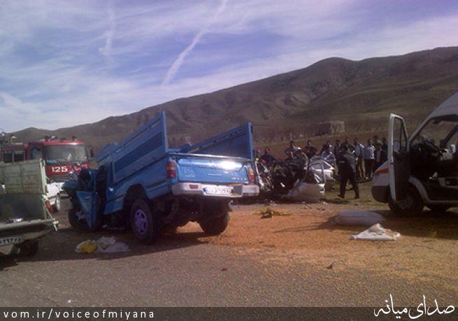 6 کشته در تصادف جنوب تبریز/ 4 معلم زن در میان قربانیان