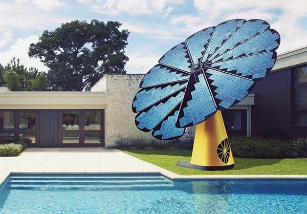 پنل خورشیدی به شکل آفتابگردان+تصاویر