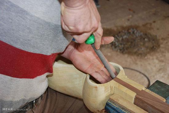 خروس با بطری کارگاه ساخت ساز و تار (عکس)