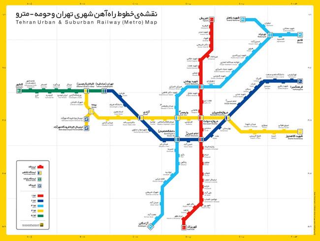 نقشه خطوط قطار شهری مشهد در آینده تصاویر