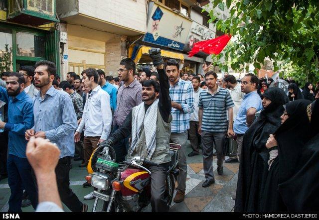 چهره معروف تجمع حجاب در تهران (عکس)