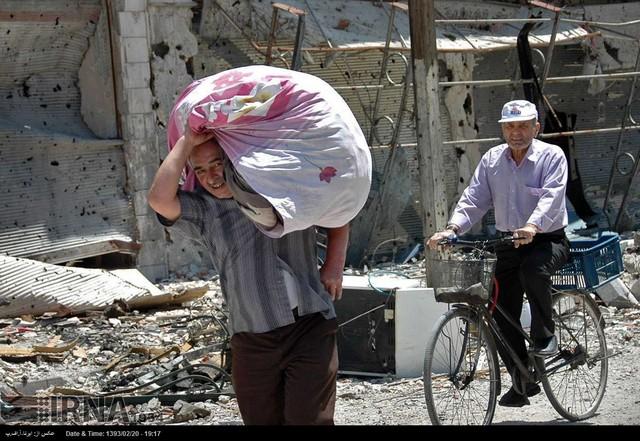 ساخت مواد منفجره از صابون عکسهایی از جستجوگران مین در مرز عراق