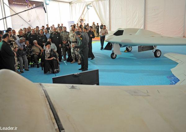 نمایش پهپاد ساخت ایران RQ170 در حضور مقام معظم رهبری (+عکس)