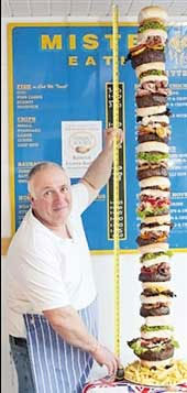 همبرگر یک متر و 60 سانتیمتری! (+عکس)
