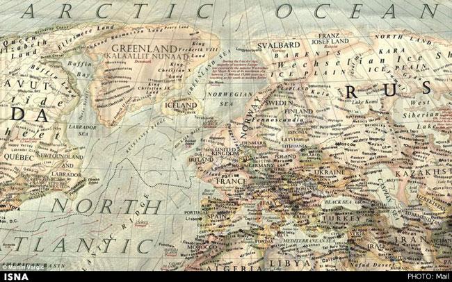 نقشه زمین در عصر یخبندان (+عکس)