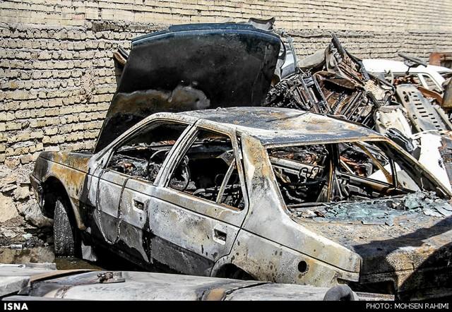 آتش سوزی در پارکینگ عمومی- مشهد (عکس)