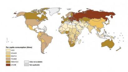 ایرانی های مشروب خور به لحاظ میزان مصرف : نوزدهم جهان