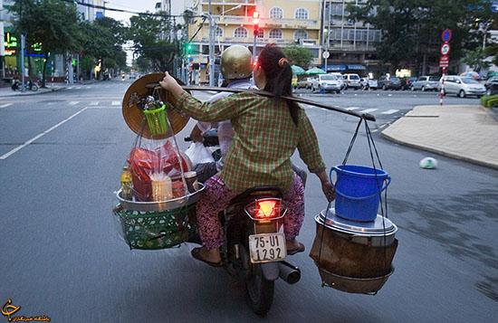 باربری موتورسواران ويتنام (عکس)