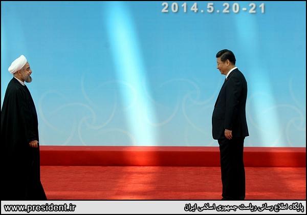 استقبال رئیس جمهور چین از روحانی(عکس)