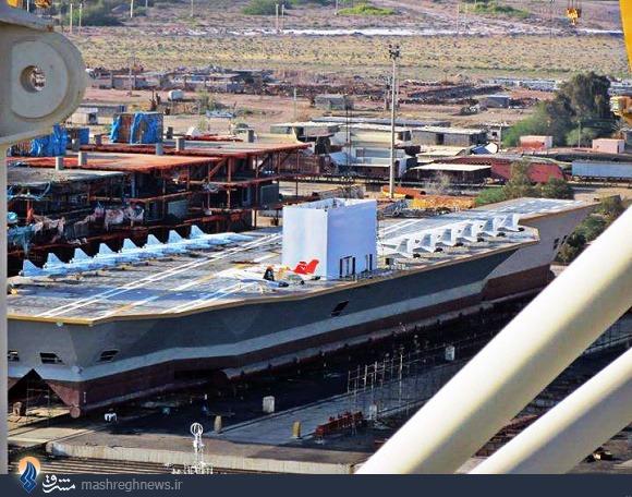 فرمانده نیروی دریایی سپاه: ساخت ماکت ناوهواپیمابر آمریکا برای تمرینات سپاه