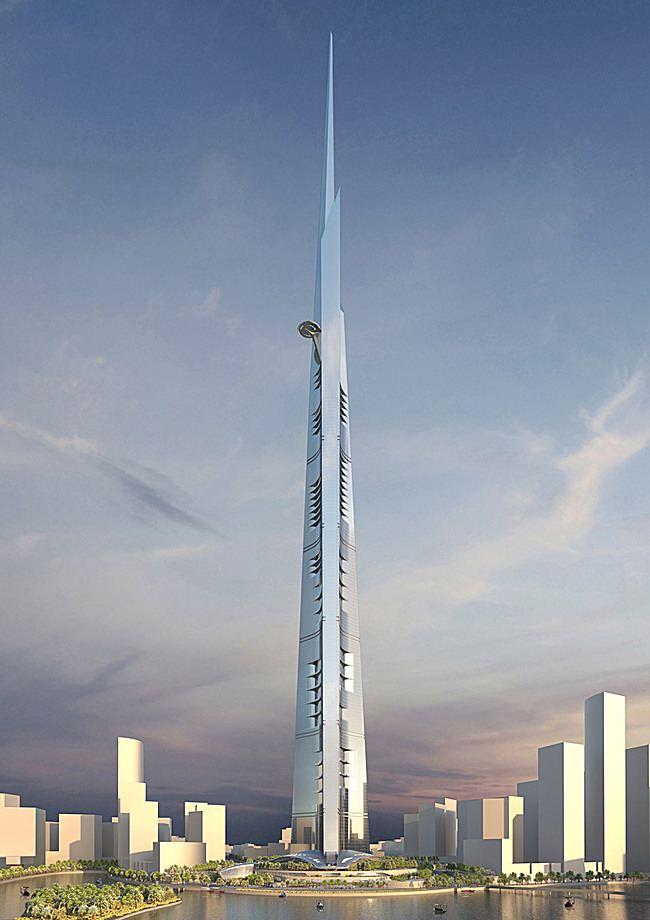 برج یک کیلومتری در عربستان سعودی (عکس)