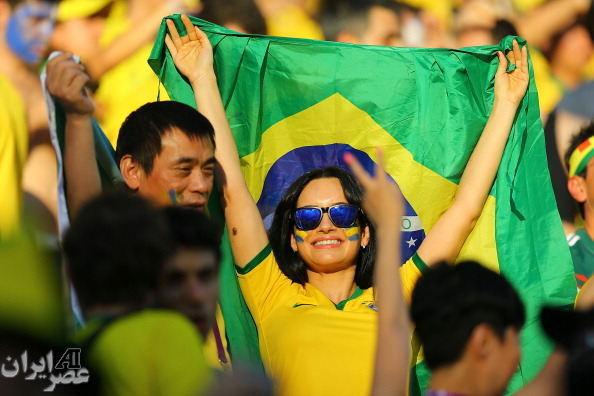 تماشاگران برزیلی جام جهانی (عکس)