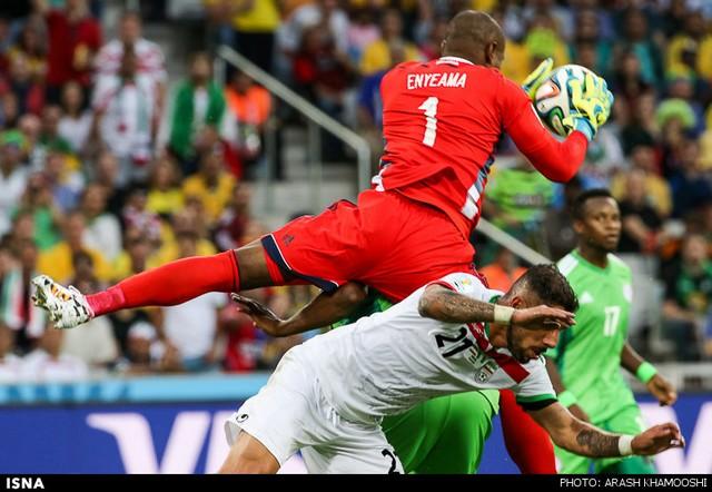 دیدار تیمهای فوتبال ایران و نیجریه (عکس)