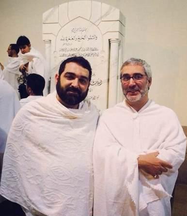 شهاب مرادي و ابراهيم حاتمي كيا در لباس احرام (عكس)