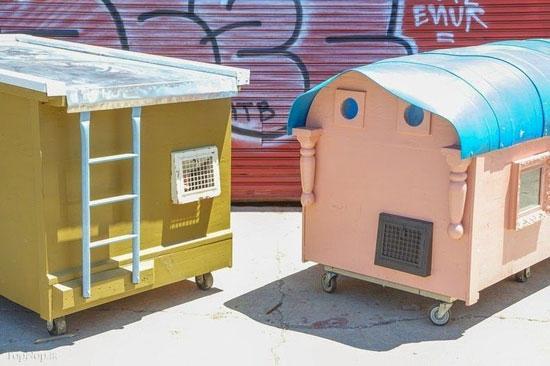 خانه هایی برای بی خانمان ها (عکس)