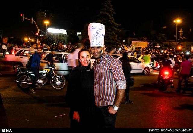 شادی مردم پس از بازی ایران و آرژانتین (عکس)