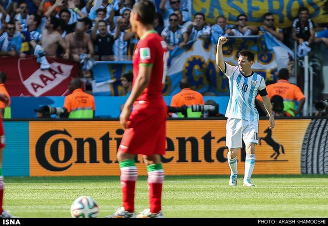 بازی ایران و آرژانتین (عکس)