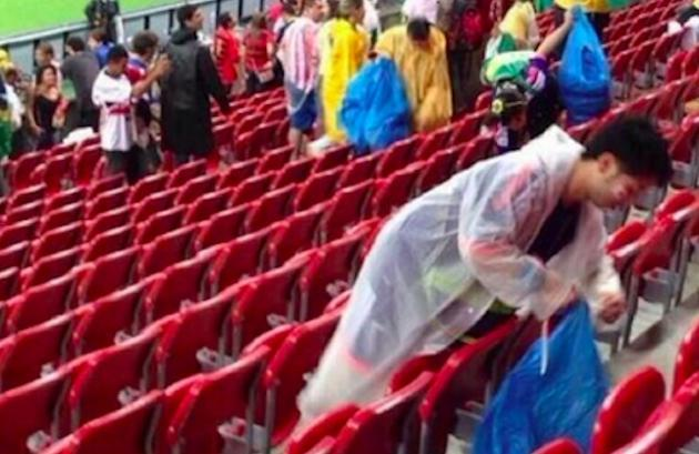 ادب ژاپنی ها در جام جهانی (+عکس)