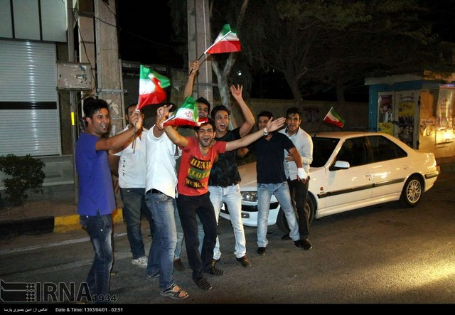 شادی طرفداران تیم ملی در سراسر کشور (عکس)