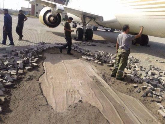 عاقبت زیباسازی باند فرودگاه! (عکس)
