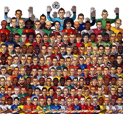 تمام ستارگان جام جهانی در یک کارتون! (عکس)