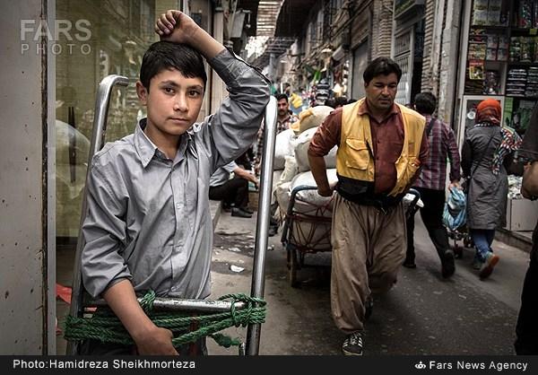 کودکان کار بازار تهران (عکس)