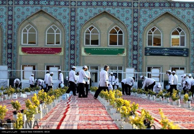 سفره های اکرام رضوی (عکس)