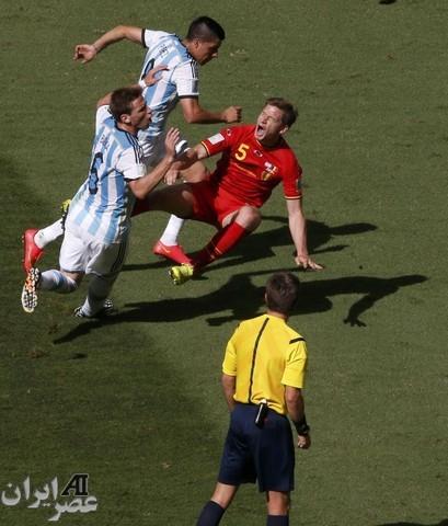 بازی آرژانتین و بلژیک (عکس)