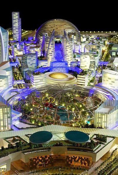 شهر عابران با دمای کنترل شده در دبی (+عکس)