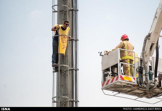 تلاش برای خودکشی در میدان هفت تیر (+عکس)