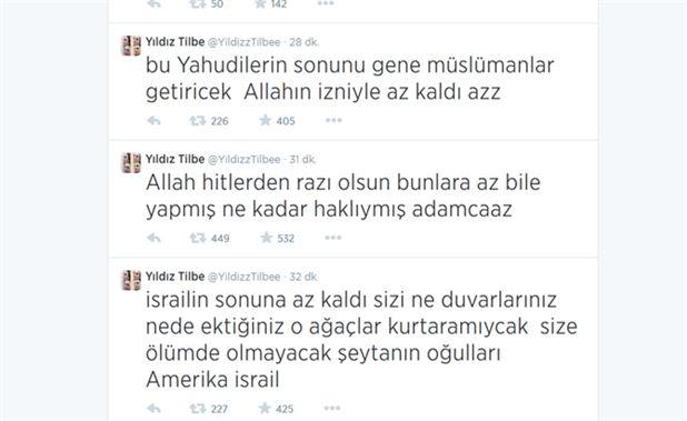 جنجال توییت خواننده ترکیه ای علیه اسراییل