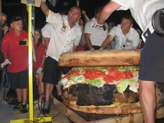 بزرگترین همبرگر دنیا (عکس)