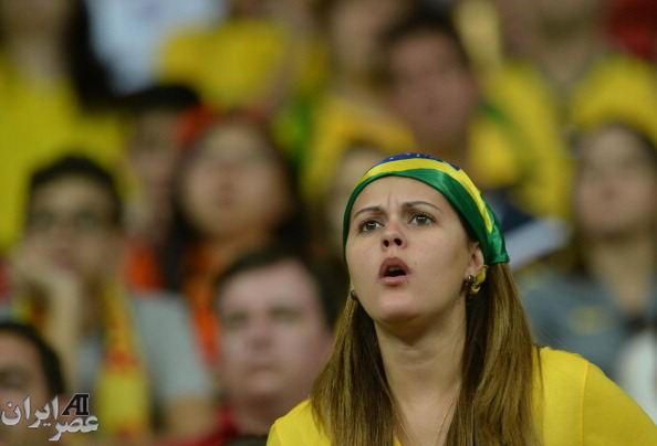 اندوه تماشاگران برزیلی برای از دست دادن مقام سوم جام جهانی (عکس)