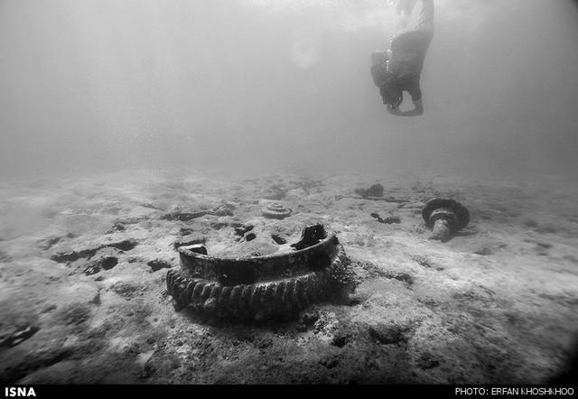 کیش؛ کشتی یونانی در حال نابودی (عکس)