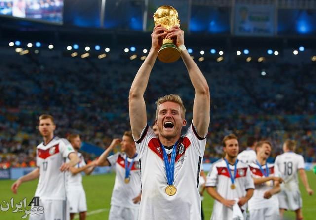 مراسم اهدای جام جهانی 2014 به آلمان (عکس)