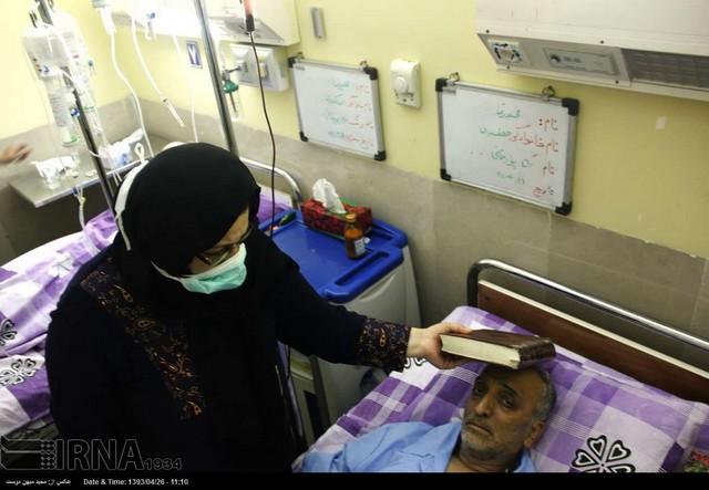شب قدر با بیماران (عکس)