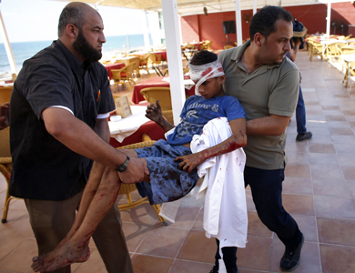 مرگ 4 کودک در شلیک توپخانه اسرائیل به ساحل غزه / 227 کشته در 9 روز حمله
