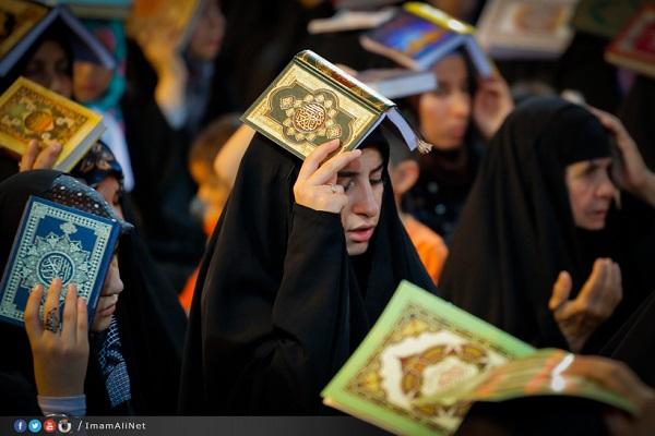 شب قدر در حرم حضرت علي (عکس)