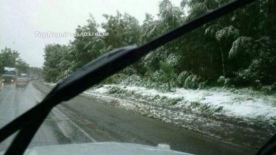 بارش برف تابستانی (عکس)