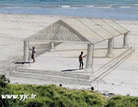 نقاشی های سه بعدی در ساحل (+عکس)