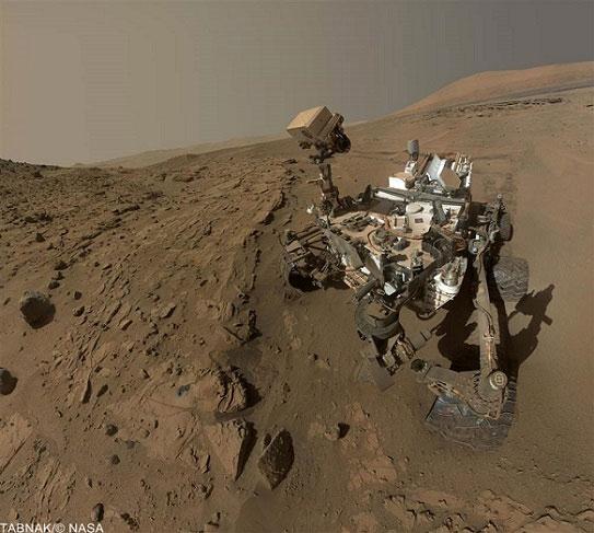لحظه ثبت شده و منحصر بفرد از مریخ (+عکس)