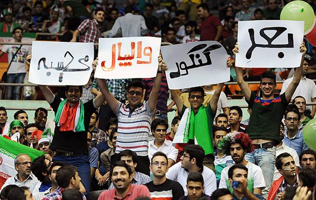 حواشی مسابقه والیبال ایران  و لهستان (عکس)
