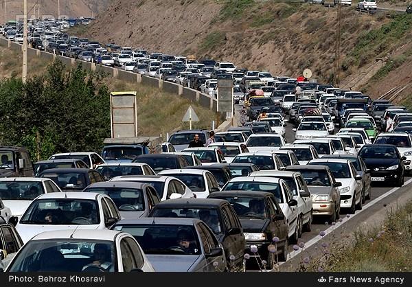 ترافیک جاده هراز و چالوس (عکس)