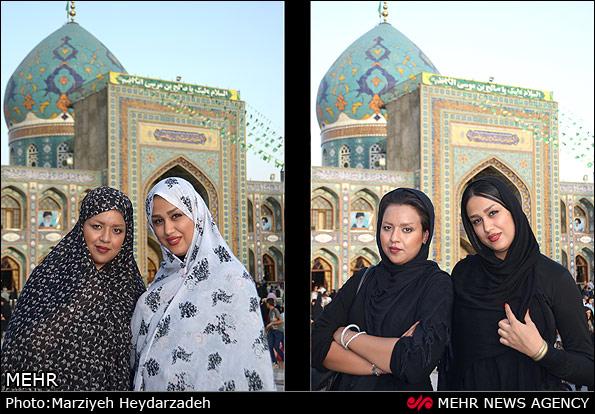 تجربه پوشش کامل اسلامی (عکس)