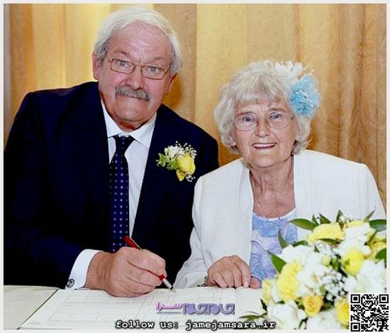 ازدواج پس از 42 سال نامزدی! (+عکس)