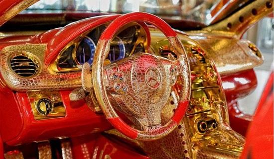 مرسدس بنز ساخته شده از طلا و یاقوت (+عکس)