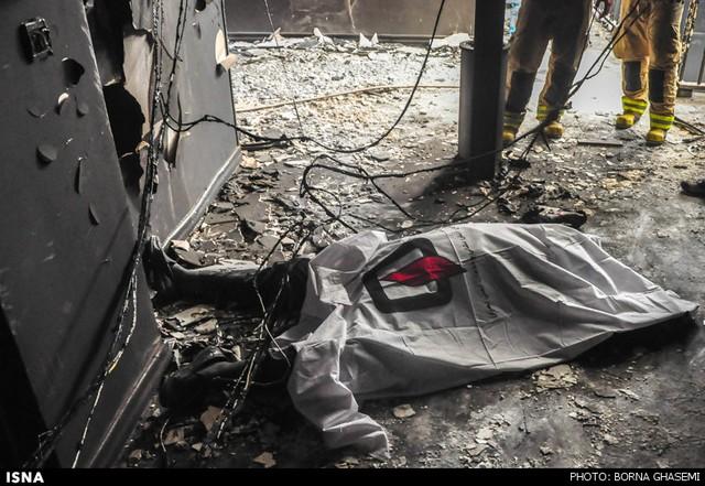 آتشسوزی در مجتمع تجاری - تهران (عکس)