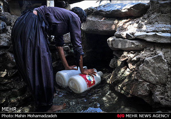 کم آبی در روستاهای یزد و سیستان (عکس)