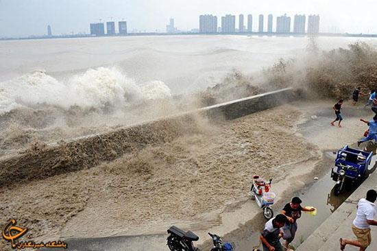 امواج سهمگین رودخانه در چین (عکس)