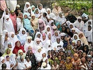 مردی با هشتاد و شش همسر خود (+عکس)